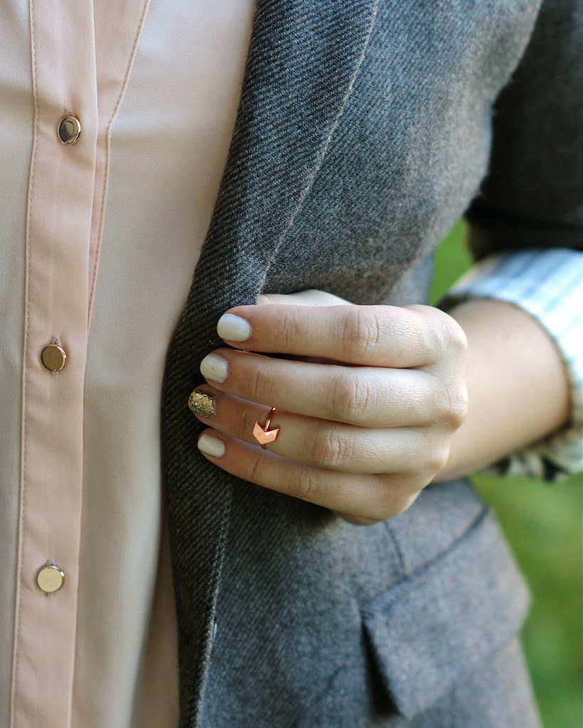 baublebar chevron midi ring