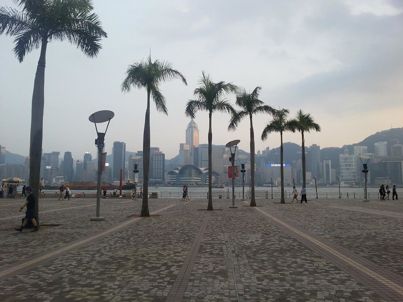 Waterfront near The Hong Kong Cultural Centre.