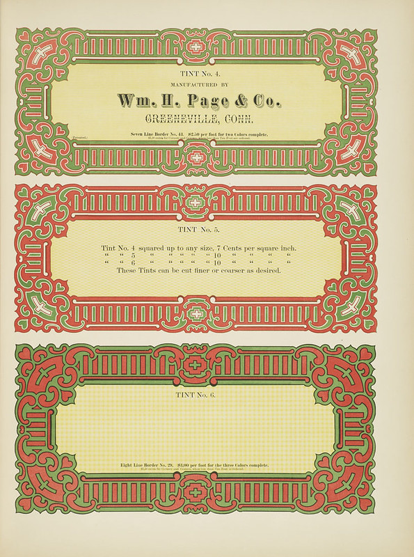 Specimens of chromatic wood type, borders 1874 - [via Columbia U] (border cards)