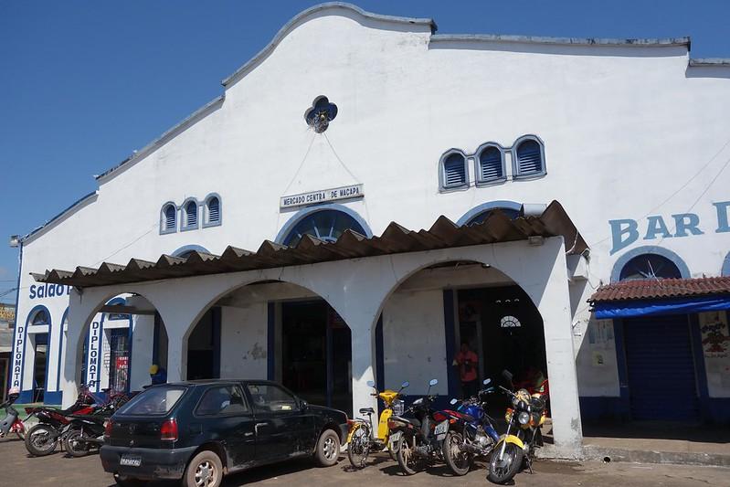 Fotografia do exterior do Mercado Central de Macapá, Amapá Brasil