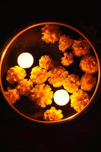 Diwali floating candles