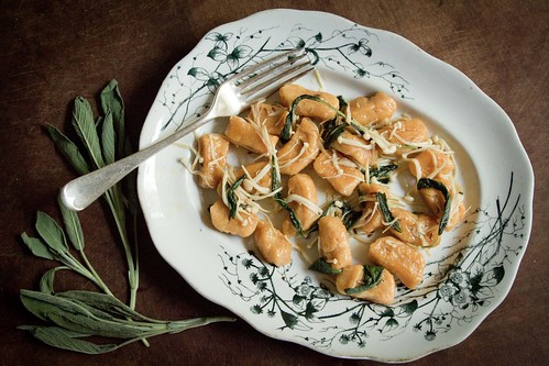 Sweet potato gnocchi with enoki mushrooms and sage-3