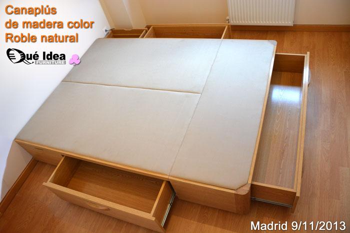 Canap s cama con cajones qu idea hogar for Cama matrimonial con cama individual abajo