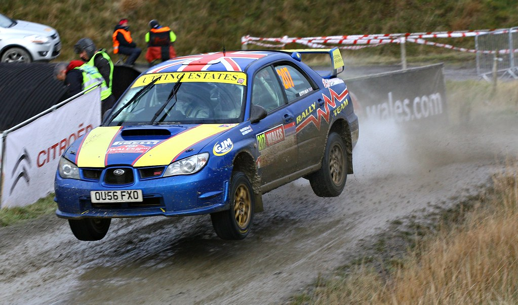 Subaru Impreza Car # 207 - Wales Rally GB