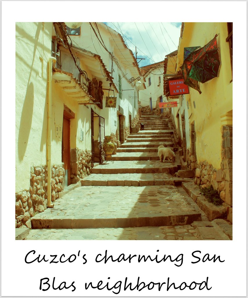 polaroid of the week peru cuzco san blas
