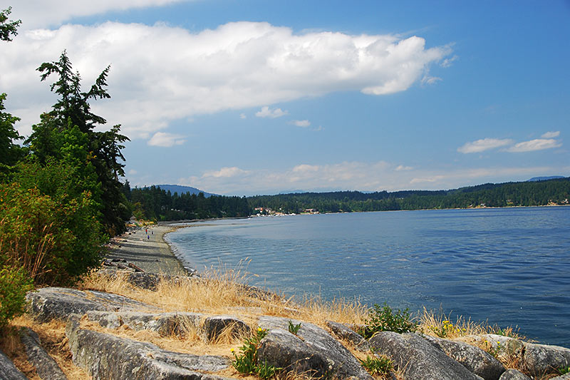 Beach at Mill Bay, Vancouver Island, British Columbia, Canada