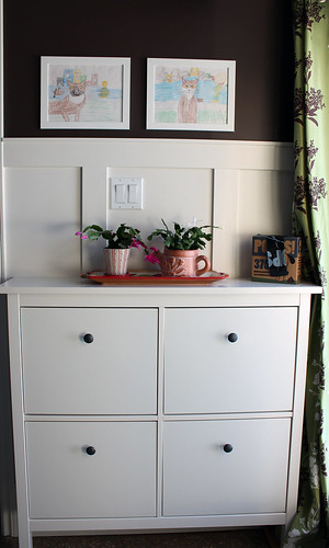 mudroom dresser #Ikea #hemnes #mudroom #renovation