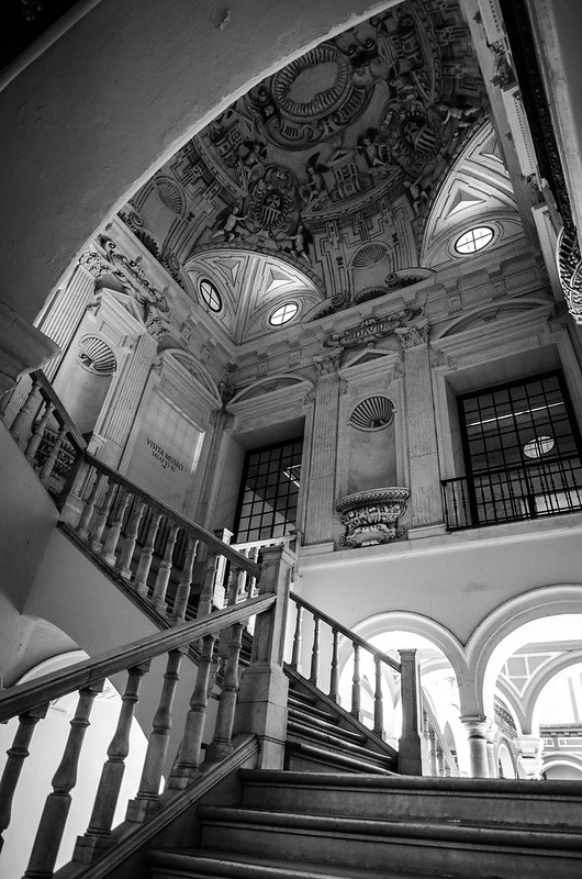 Inside the Museo de Bellas Artes of Sevilla.