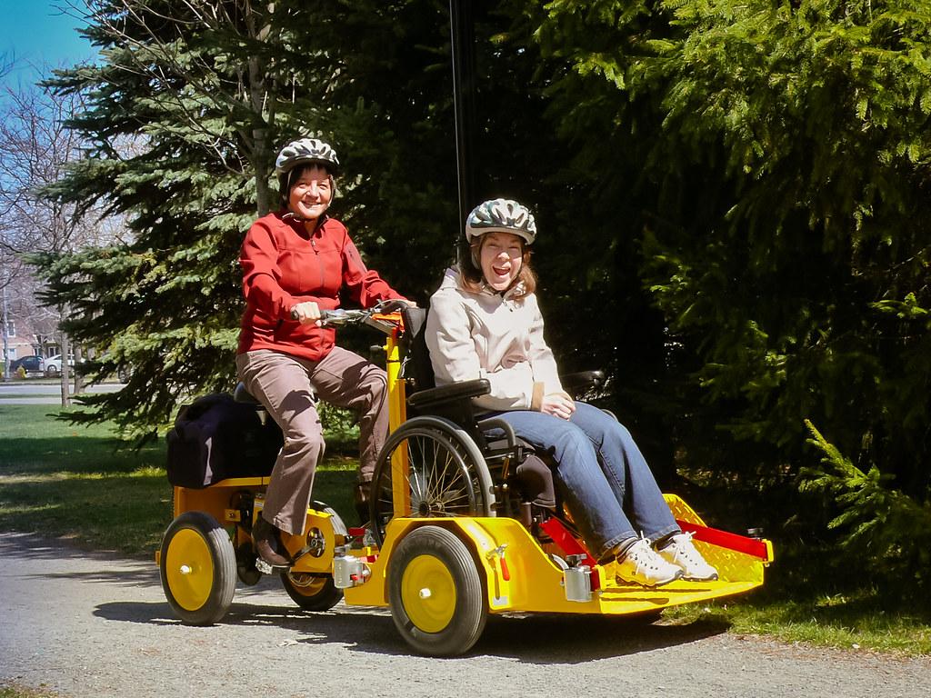 Vélo adapté inclusif à la Vélogare du Grand-Tronc de Victoriaville
