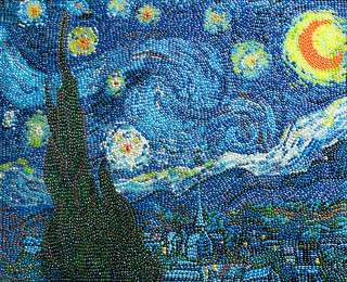 The Starry Night, after Vincent Van Gogh, by Kristen Cumings 2011.