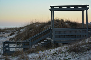 St Augustine Beach at dusk
