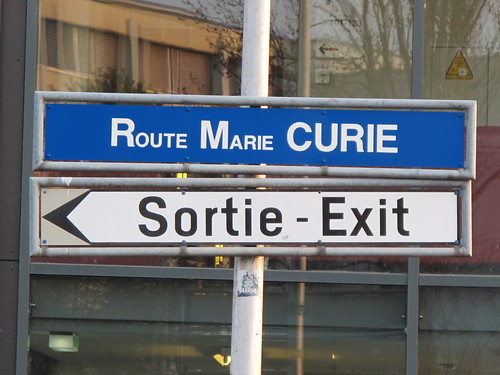 Route Marie Curie at CERN