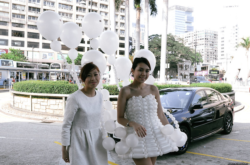 The White Balloon Dress