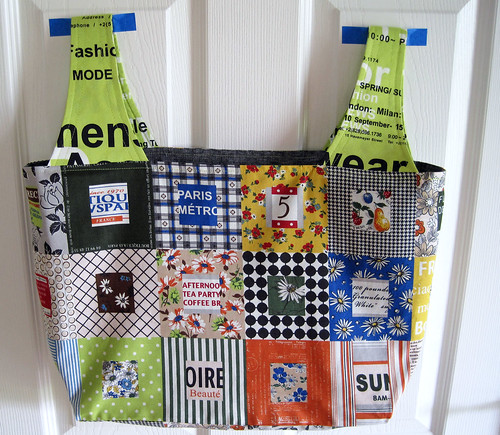 First Michelle Patterns Grocery Bag