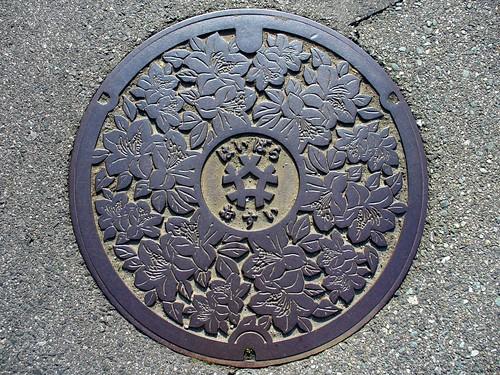 Haibara Nara, manhole cover 2 (奈良県榛原町のマンホール2)