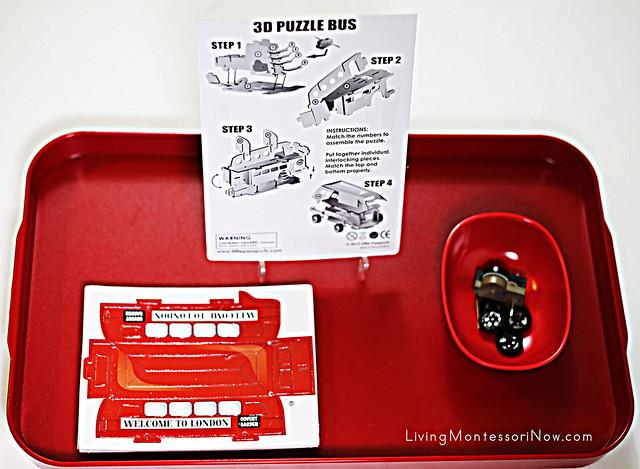 3-D Puzzle Bus