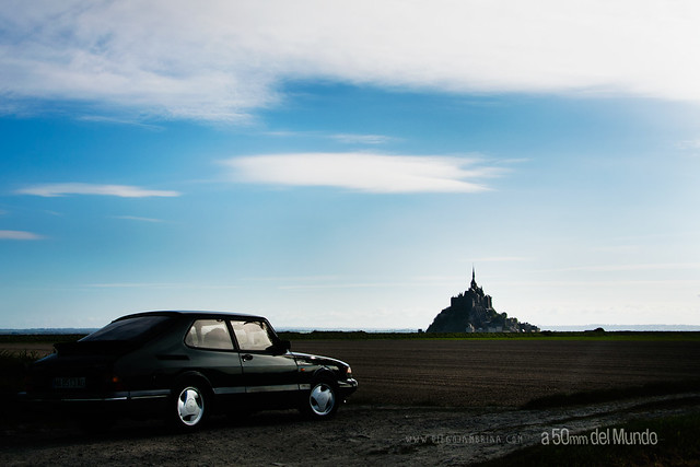 un saab 900 en mont st michel flickr photo sharing. Black Bedroom Furniture Sets. Home Design Ideas