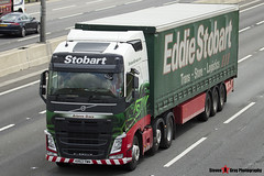 Volvo FH 6x2 Tractor with 3 Axle Curtainside Trailer - KR63 YWN - H4046 - Arianne Grace - Eddie Stobart - M1 J10 Luton - Steven Gray - IMG_8229