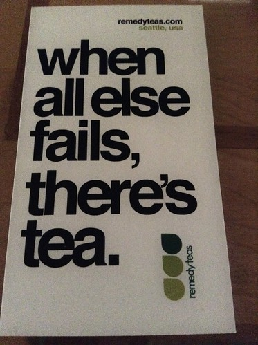When all else fails, there's tea