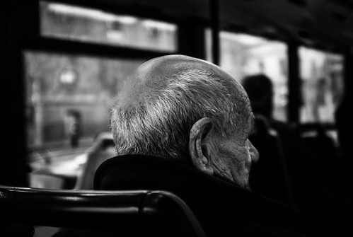 Untitled image of an old mans head.