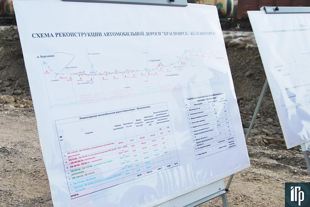 проект реконструкции трассы Красноярск - Железногорск