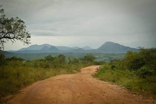 africa road mountain tanzania village view dirt berega