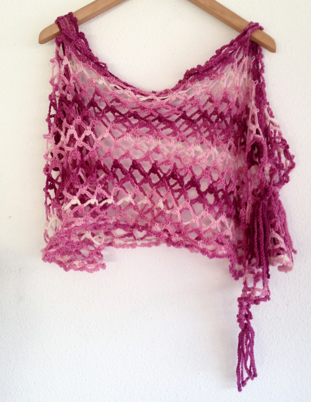 shades of pink scarf