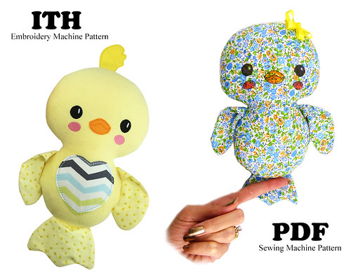 ITH and PDF Stuffie Patterns