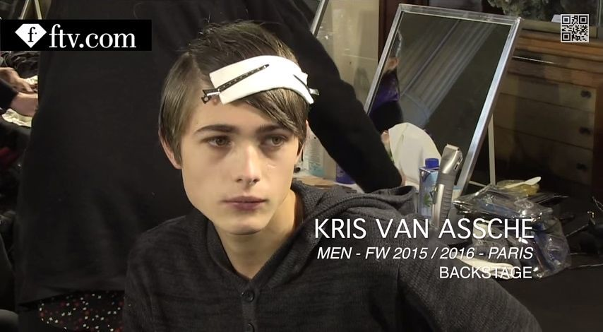 Paul Fontanier3037_FW15 Paris Kris Van Assche(youtube.com)