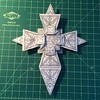Getting ready to upload diagrams and the paper pattern for this cross for sale from the OrigamiUSA store, today or tomorrow...