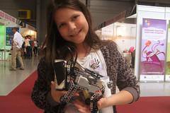 Cafe Neu Romance at Veletrh vědy 2016: GIRL and LEGO MINDSTORMS Puppy robot