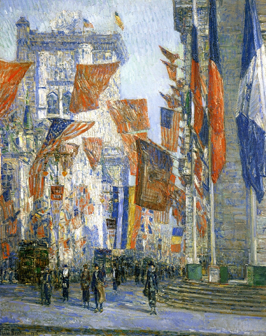 Avenue of the Allies by Frederick Childe Hassam - 1918