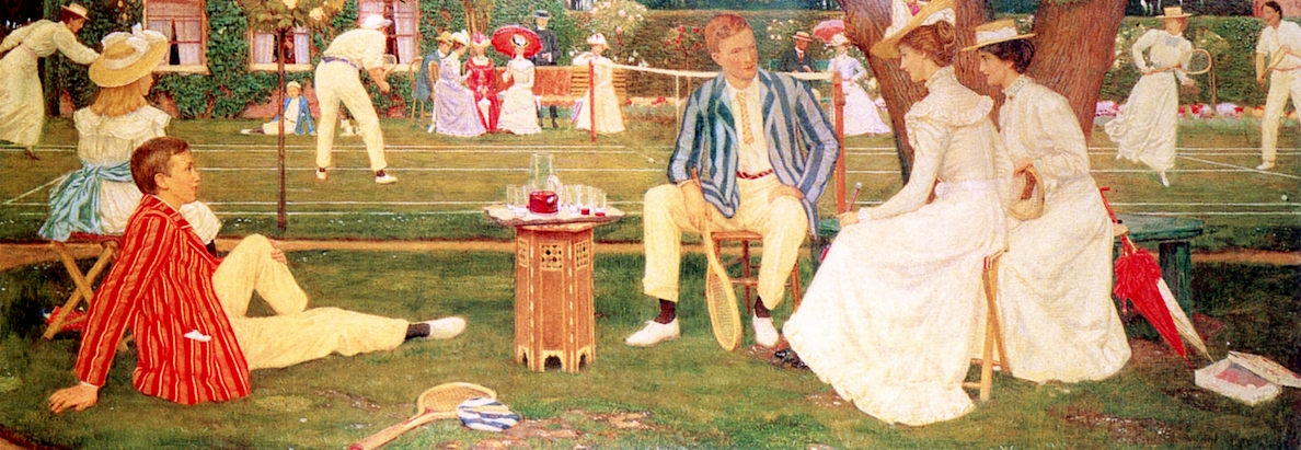The Tennis Party by Charles March Gere - 1900
