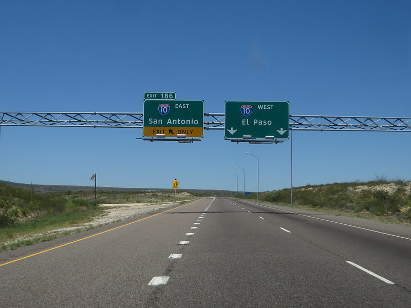 Interstate 10, Reeves County, Texas
