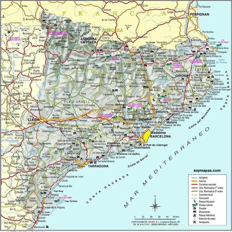 Mapa da Catalunha