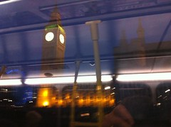 Big Ben bus blur