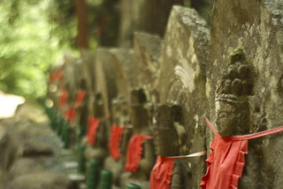 The stone statues of Muro-ji temple.