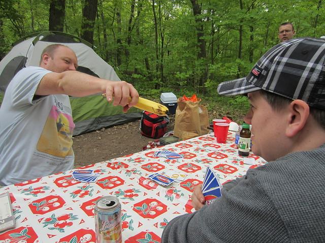 Gangland-style banana violence at camping must be stopped!