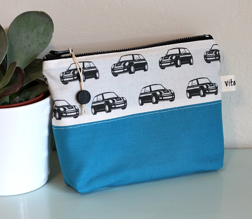MINI Cooper color blocked zipper bags
