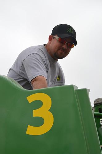 One of the John Deere PIP crew members awaits some parts