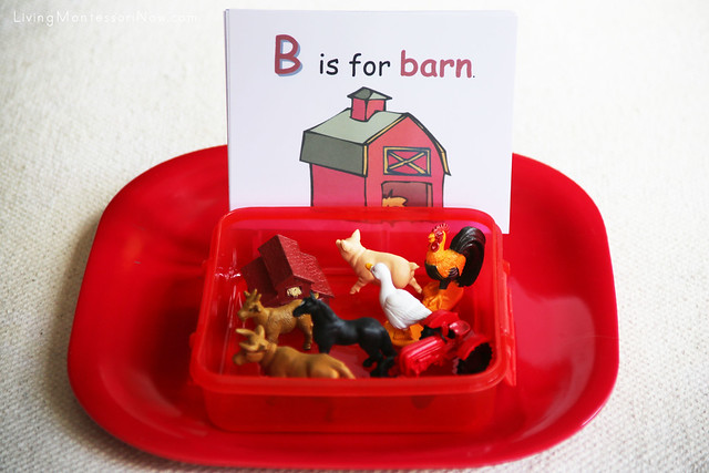 Farm Phonics Matching Activity