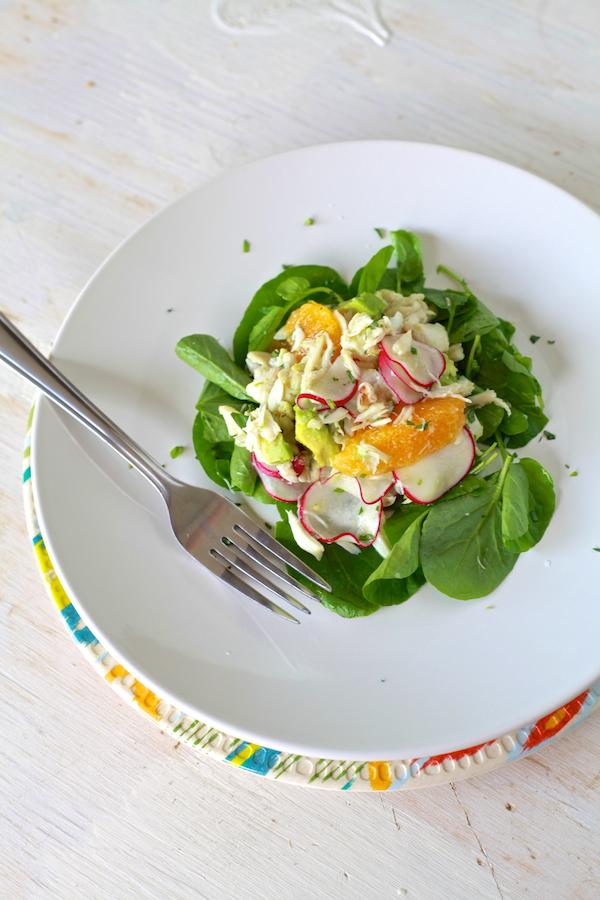 Simple & fresh Crab, Radish & Avocado Salad by TheNoshery.com