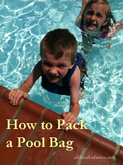 How to Pack a Pool Bag for a Trip to the Pool with 4 Kids