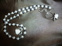 pearl, jewellery, gemstone, chain, silver, circle, necklace,