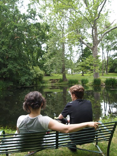 Schoepfle Garden - Birmingham, Ohio - Rosanne and Joseph enjoy the view