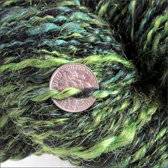 Witches Tresses handspun, close up