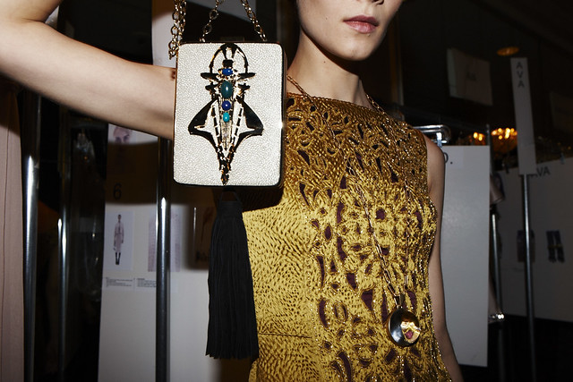 Tory Burch Fall 2013 Backstage Image 1 Photo credit Jen Livingston