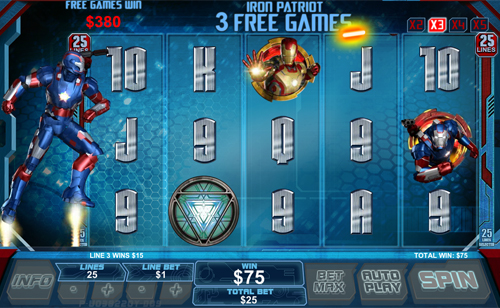 free Iron Man 3 free spins