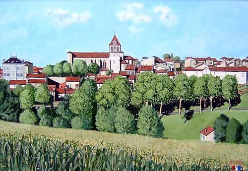 Pueblo del Gers (Gascuña francesa)