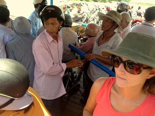 On the ferry to Cam Kim island across from Hoi An